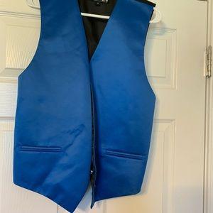 Men's blue satin vest